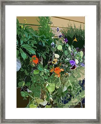 Snohomish Flowerbox  Framed Print