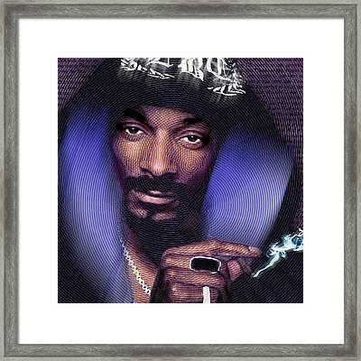 Snoop And Lyrics Framed Print