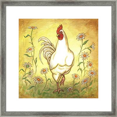 Snooty The Rooster Framed Print by Linda Mears