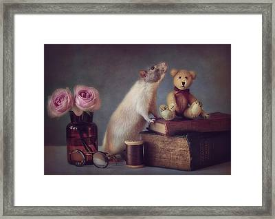 Snoozy And Friend Framed Print