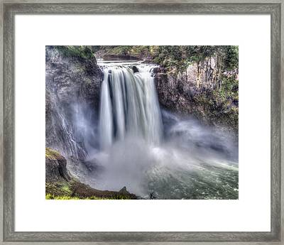 Framed Print featuring the photograph Snoqualmie Falls by Chris McKenna