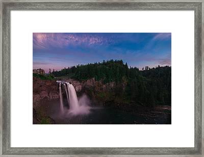 Snoqualmie Falls Framed Print by Gene Garnace