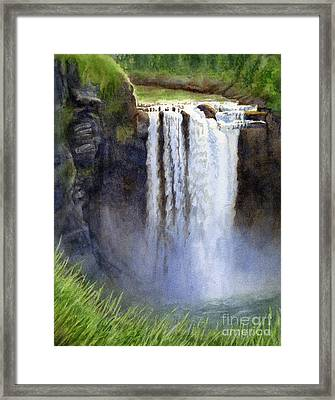 Snoqualmie Falls Without The Lodge Framed Print by Sharon Freeman