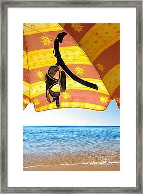 Snorkeling Glasses Framed Print