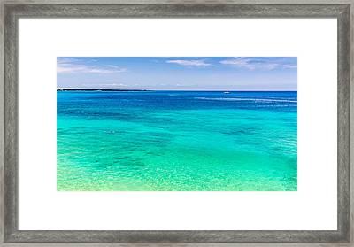 Snorkelling Blue Hawaii Framed Print