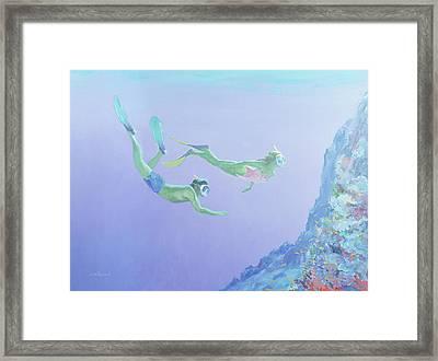 Snorklers Framed Print