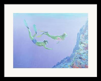 Reef Shark Framed Prints