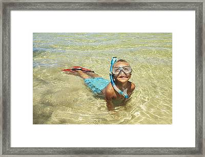 Snorleing Boy Framed Print by Kicka Witte