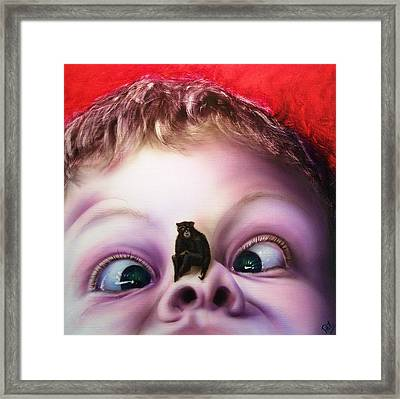 Snot Monkey  Framed Print by Phillip Eames