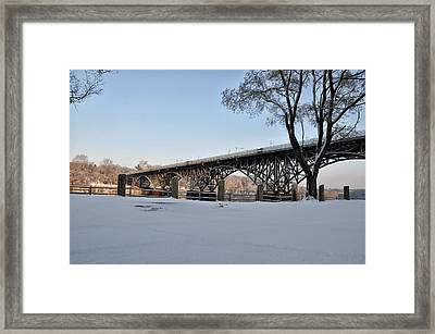 Snow Along Kelly Drive Framed Print by Bill Cannon