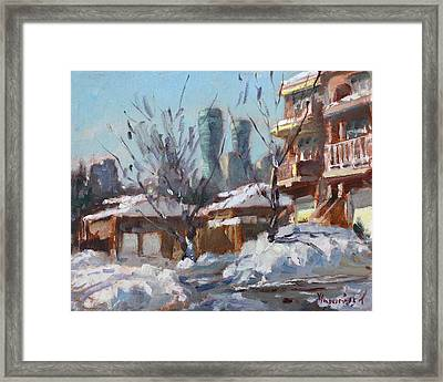 Snow And Sun Framed Print by Ylli Haruni