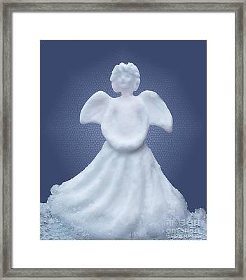 Snow Angel Framed Print by Barbara McMahon