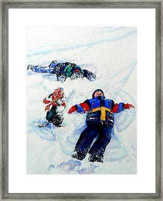 Snow Angels Framed Print by Hanne Lore Koehler