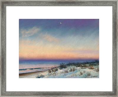 Snow At Bay Head Framed Print by Joan Swanson