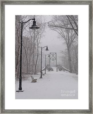 Snow At Bulls Island - 05 Framed Print