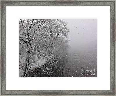 Snow At Bulls Island - 12 Framed Print