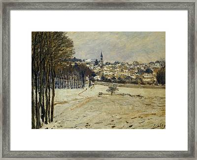 Snow At Marly-le-roi Framed Print by Alfred Sisley