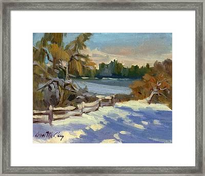 Snow At Martha Lake Framed Print