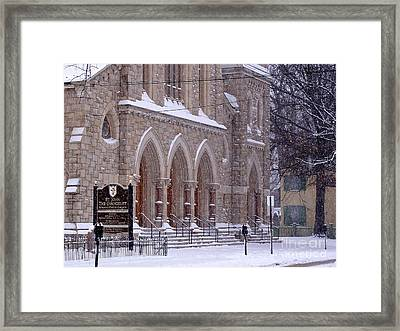 Snow At St. John's Framed Print