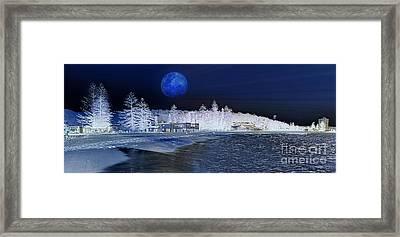 Snow At Sydney Beach - Artistic Impression Framed Print by Kaye Menner