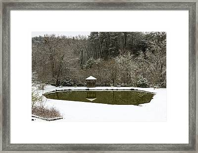 Snow At The Pond Framed Print
