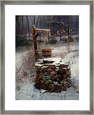 Snow At Twilight Framed Print by RC deWinter