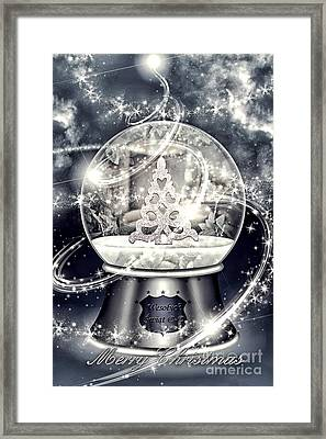 Snow Ball Framed Print by Mo T