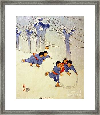 Snow Balls Framed Print by Pg Reproductions