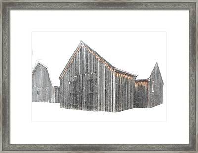 Snow Barns Framed Print by Christopher McKenzie