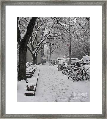Snow Bikes Framed Print by James Dolan