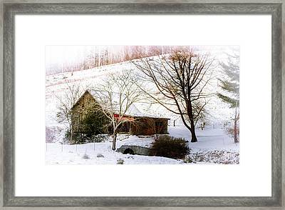 Snow Blanket Framed Print by Karen Wiles