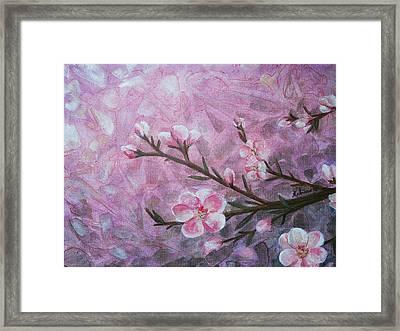 Snow Blossom Framed Print by Arlissa Vaughn