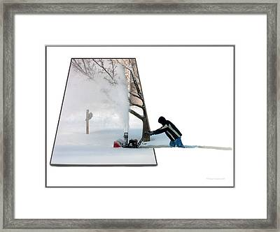 Snow Blower Framed Print by Thomas Woolworth