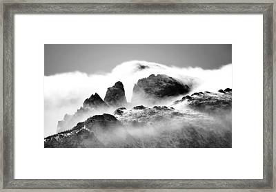 Snow Blown Rockies Framed Print