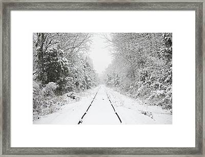Snow Bound Framed Print by Nancy Edwards