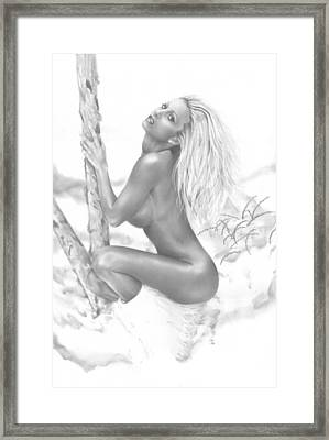 Snow Bunny Framed Print by Pete Tapang