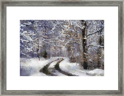 Snow Came Framed Print