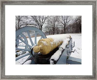 Framed Print featuring the photograph Snow Cannon by Michael Porchik