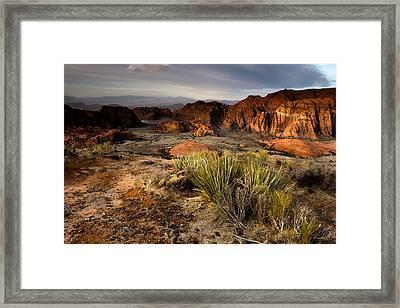 Snow Canyon Sunrise Framed Print
