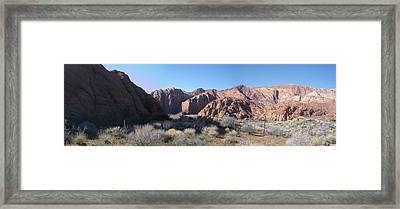 Snow Canyon Valley Framed Print