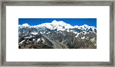 Snow Capped Canyon Framed Print by Bruce Nutting