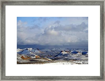 Snow Clouds Over Flaming Gorge Framed Print