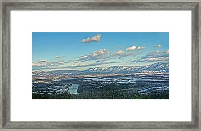 Snow Covered Blue Ridge Framed Print by Lara Ellis