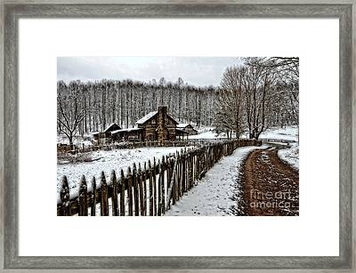 Framed Print featuring the photograph Snow Covered by Brenda Bostic