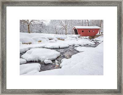 The Stillness Of Winter Framed Print by Bill Wakeley