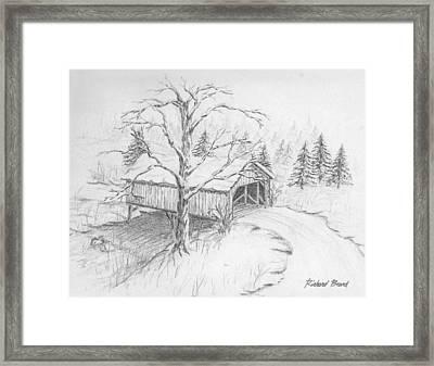 Snow Covered Bridge Framed Print