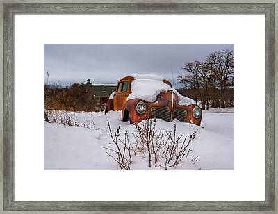 Snow Covered De Soto Framed Print