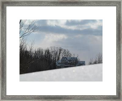 Snow Covered Driveway Framed Print by Tina M Wenger