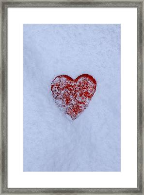 Snow-covered Heart Framed Print by Joana Kruse
