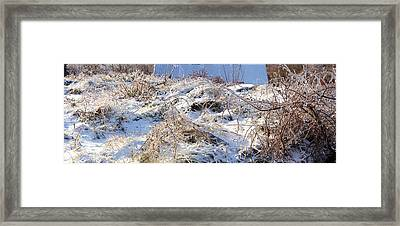 Snow Covered Hill Framed Print